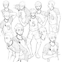 hq - Tendou sketches by GreatVodkaQeen