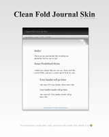 Clean Fold Journal Skin by Rebel2206