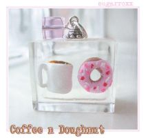 Coffee n Doughnut Cubie by SugarRoxx