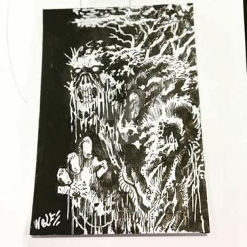 mini swamp thing trading card by TheWolfMaria
