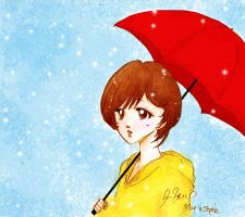 +AfteRraiN Girls+ Red and Yellow by reginafeby
