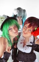 Miku is possessed D: with Gumi and Meiko by AlessiaAzalina
