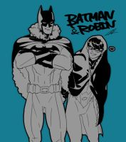 Batman and Robin by xxxviciousxxx