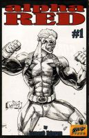 Another Alpha Red #1 Sketch Cover by jamesq