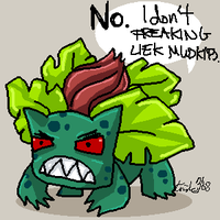 Ivysaur, on Mudkips by Kiriska