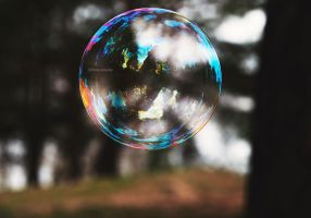 the whole world a bubble II by LindaMarieAnson
