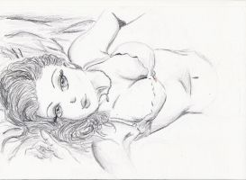 unfinished drawing by miawell1990