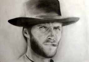 Clint Eastwood by sherleck