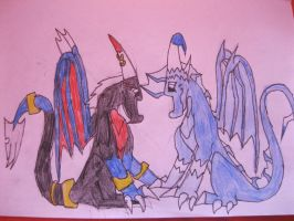 Mina and Videri a Love by NewMoon-Dragoness
