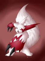 Zangoose. The angry Cat-Ferret by Sceifrevan