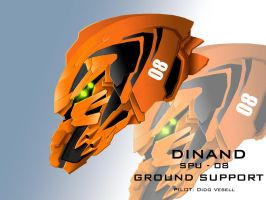 Mecha Head Concept: Dinand by bcetin