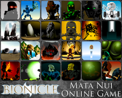 Absurdly Huge Mata Nui Online Game Icon Pack by AlphaPrime02