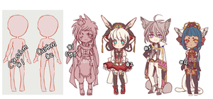 Doodle fantasy adoptable auction (CLOSED) by Kaiet