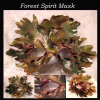 Fall Forest Spirit Mask by starbright2040