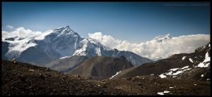 Syagang and Annapurna III by Dominion-Photography