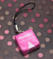 Starburst Phone Charm by lavadragon