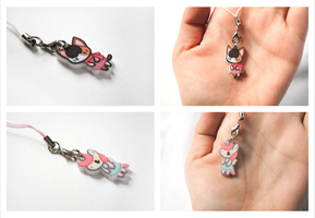 Cat and Unicorn charms by pookat