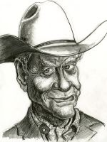 Larry Hagman as J.R. Ewing in Dallas 2012 by Caricature80