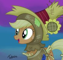 Applejack scarecrow! by Tobal13