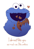 Cookie monster valentines by agoonia1