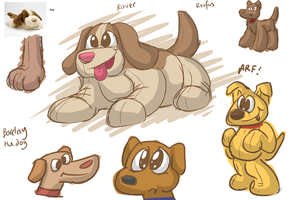 Fluffy's Revenge dog character designs #1 by Tommassey250