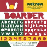 boarder font by weknow by weknow