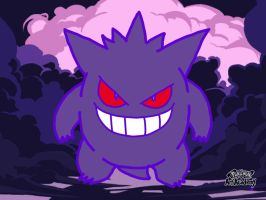 Pokemon Art Academy: Novice Lesson 3.2: Gengar by LordoftheFuzzys