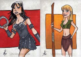 Xena and Gabrielle by scottzirkel