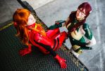 Asuka and Mari - Evangelion by GaMeReVX