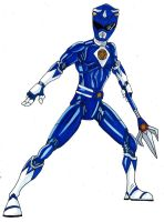 Blue Mighty Morphing Ranger by Spartan-055