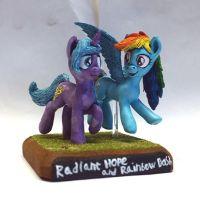 MLP:FIM Radiant Hope and Rainbow Dash by uBrosis