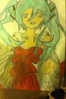 Another Drawing of Hatsune Miku by belxfran-desu