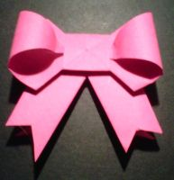 Pretty Pink Origami bow by crochetamommy