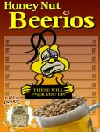 Beerios Cereal Box art for the Bad Burrito by webbcomics