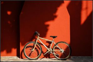 Just bicycle. In red. by yuvi2
