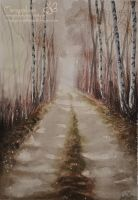 The alley of birches by Marcysiabush