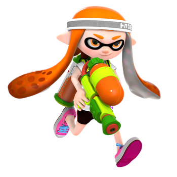 Splatoon: Inkling Girl Render by Nibroc-Rock