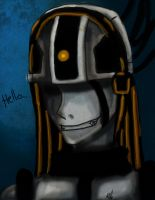 Creepy GlaDos :speedpaint by foxy-chan22