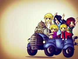 FMA Chibi Bandwagon by Mrs-Elric-613