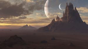 Uncharted Worlds - Lights at dawn by Flo4Ever77