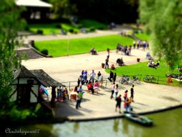 Tiny People in a Miniature World -Tiltshift Effect by Cloudwhisperer67