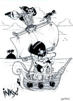 INKY pirates by blackbirdpie