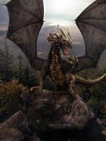 Dragon's Mountain by VampyrEmpress