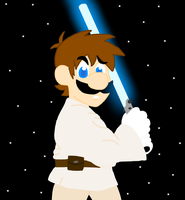 Power Star Wars- Luigi Skywalker by AceOfSpades95