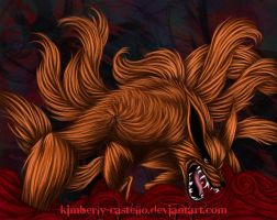 .:Kurama:. The Nine Tailed Fox by kimberly-castello