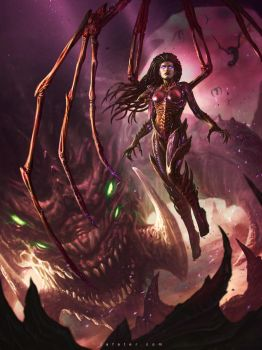 Blizzcon Art Contest 2014 Kerrigan By Rafater by rafater