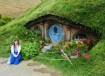 Happy With My Hobbit Hole by ShadowfaxCreations