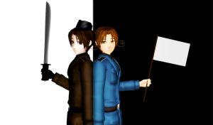 MMD 2P and 1P Italy by hetalia-fanart