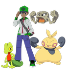 Trainer Heiji Hattori and Pokemon by SharaRaizel