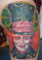 mad hatter tattoo by graynd